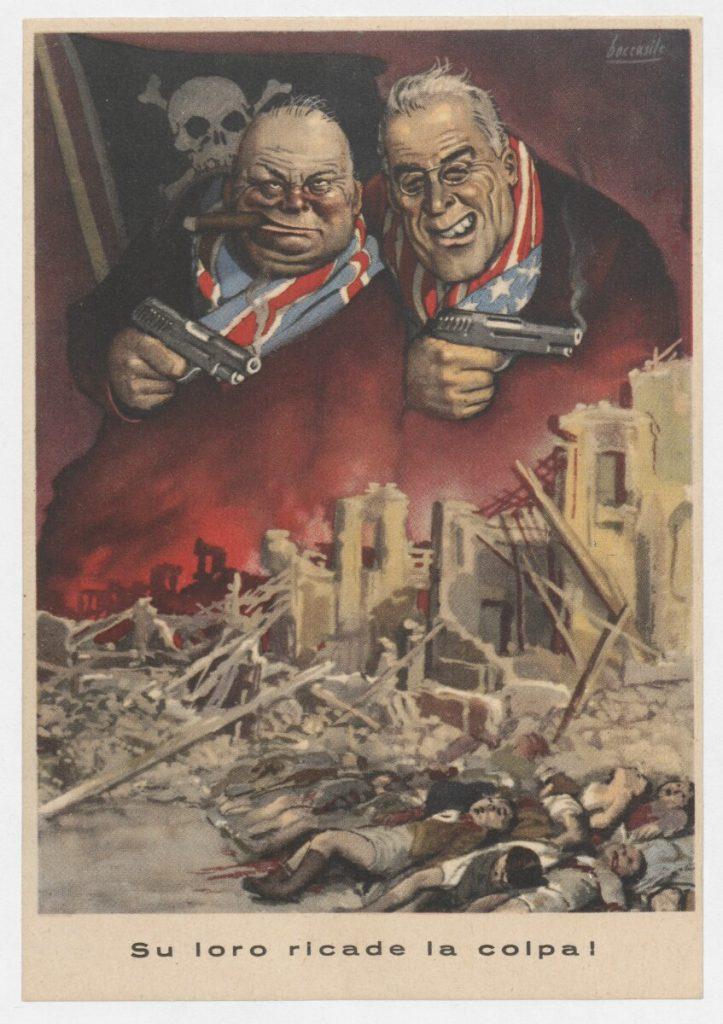 Propaganda fascista Churchill Roosevelt